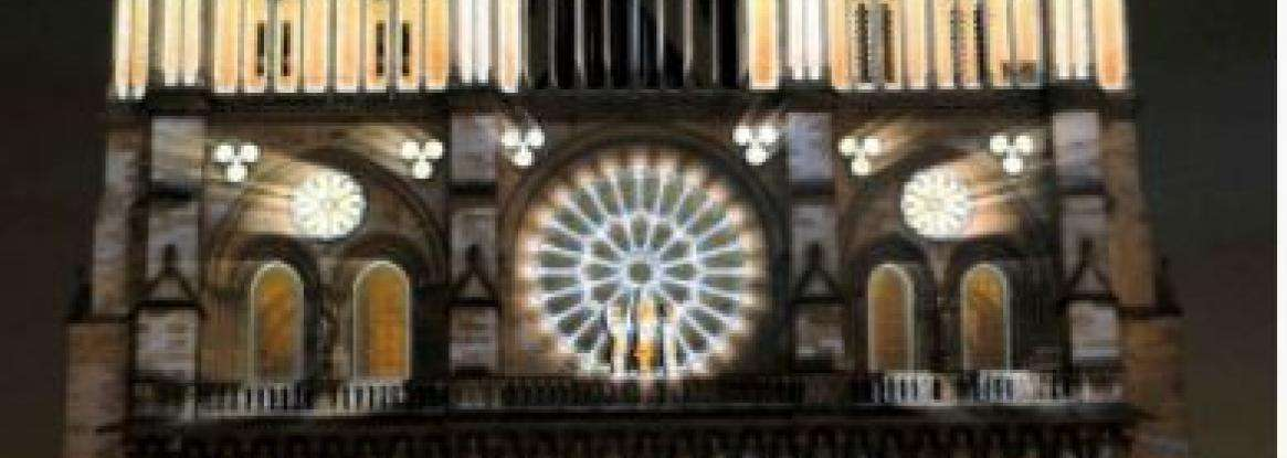 Sound-and-light show on Cathedral Notre-Dame